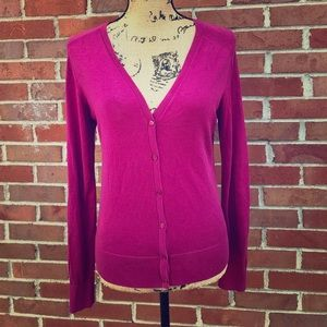 Ann Taylor Loft Small Pink  Button Front Cardigan